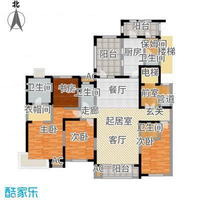 中海紫御江城中海・紫御江城观澜D四室两厅三卫234平米户型S