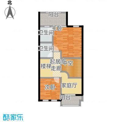 庆隆南山高尔夫国际社区77.81㎡钻石岛C二层户型2室2卫