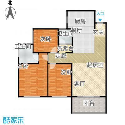 漓江明珠118.58㎡A户型:3房2厅2卫双阳台户型