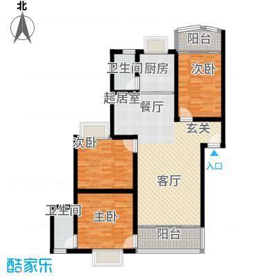 时代名城115.32㎡16#A户型3室2厅2卫