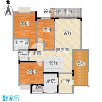 欧亚西城国际116.67㎡8#A1户型3室2厅2卫