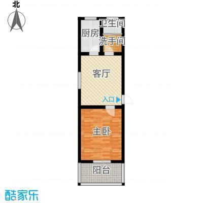 徐水幸福家园54.00㎡一室一厅一卫户型1室1厅1卫