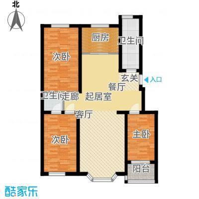 幸福里三室两厅两卫户型3室2厅2卫