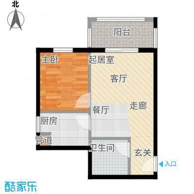 1+8时代广场56.68㎡A户型1室1厅1卫