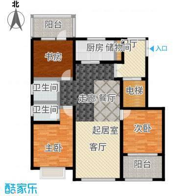 状元府邸110.00㎡110型F4户型3室2厅2卫