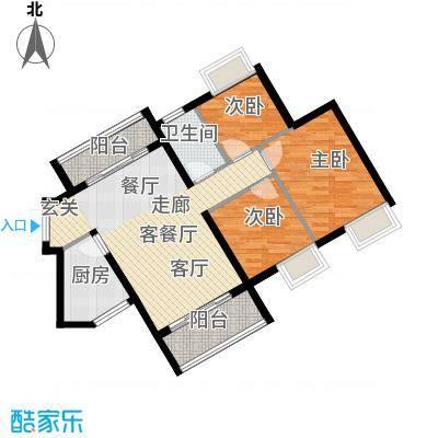 海逸锦绣誉峰85.00㎡3/4栋02单位户型3室1厅1卫1厨