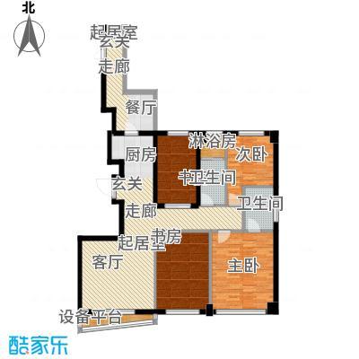 山海公园141.00㎡三房两厅两卫141平米户型图户型3室2厅2卫