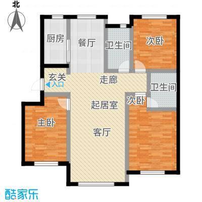 兆嘉・自由向109.66㎡多层三室两厅两卫户型3室3厅2卫S