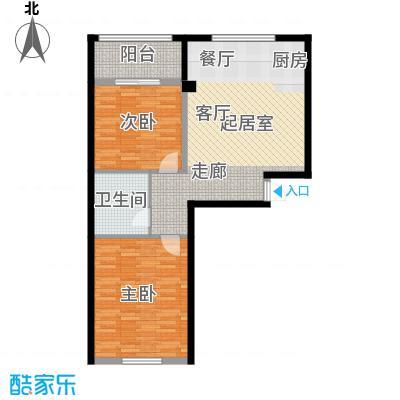 金湾又一城(一期)二室二厅一卫 面积82平方米户型