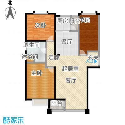 金广东海岸一期三室二厅一卫123平方米户型LL