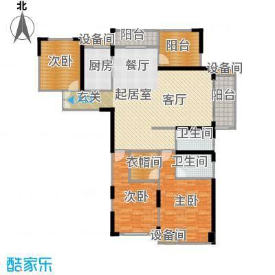 常州红星国际广场154.27㎡B5#楼154.27平米A4户型4室2厅2卫