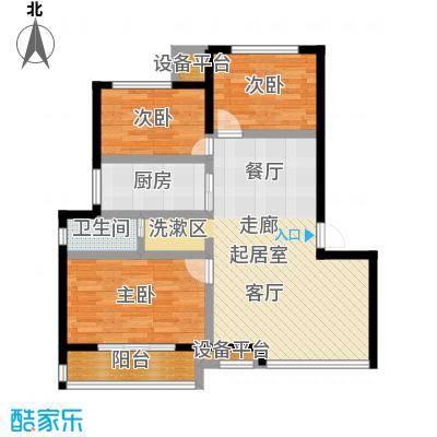 御景湾82.00㎡三房二厅一卫-82平方米-6套户型