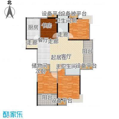 天润国际花园142.00㎡5号楼C户型四房二厅二卫142平米户型4室2厅2卫