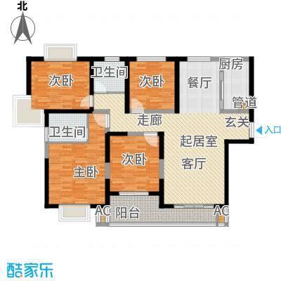 御天下136.90㎡S2-3户型 三房两厅两卫 建筑面积约:136.9㎡户型3室2厅2卫