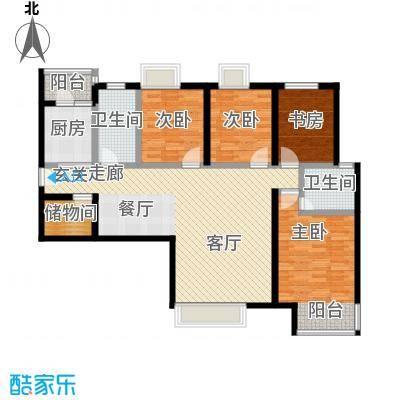 盛华香港城139.20㎡5B户型4室2厅2卫
