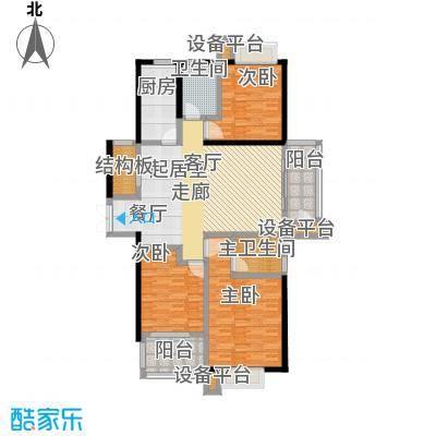 碧城云庭户型3室1卫1厨