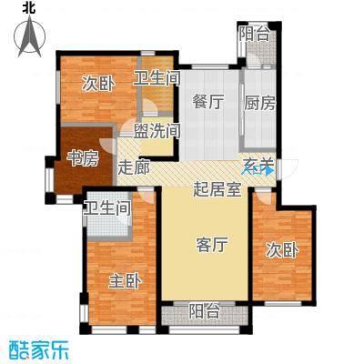 亿利城滨河湾户型4室2卫1厨