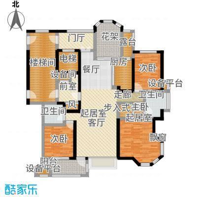 中豪东湖一品141.41㎡项目25号楼07单元B1-1户型3室2厅3卫