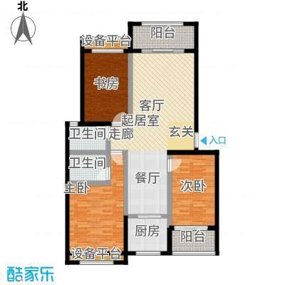 尊德天城三期113.75㎡26#A户型3室2厅2卫