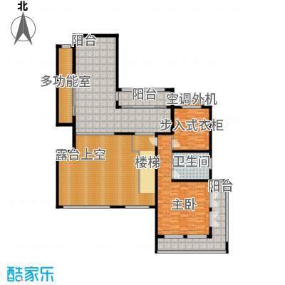 香江帝景223.34㎡洋房复式二层户型4室2厅3卫