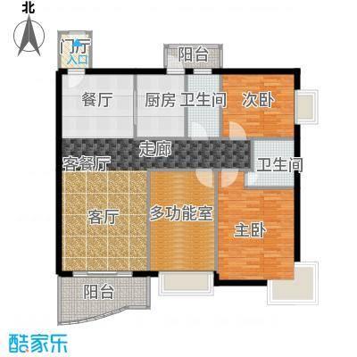 凯悦美景花园112.29㎡户型2室1厅2卫1厨