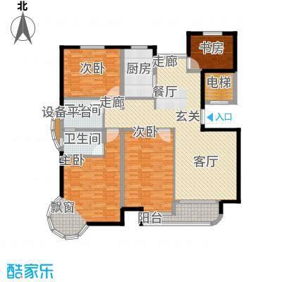 书香雅居150.00㎡四室两厅一厨两卫户型4室2厅2卫