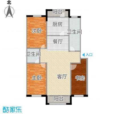 望云山景134.20㎡两阳台户型3室2厅2卫