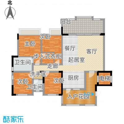 秀湖鹭岛187.45㎡阔景洋房 四室两厅两卫 产权面积143.75平户型4室2厅2卫