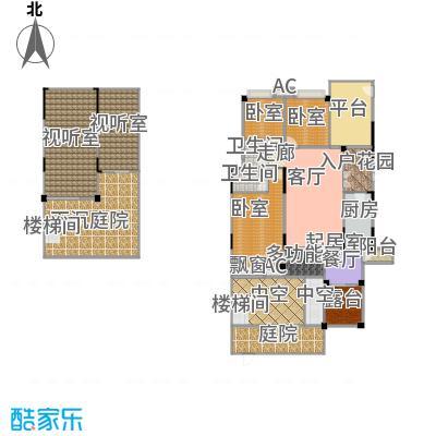 玮益上城华府上城华府一期一层户型3室2厅2卫1厨 143.50㎡户型3室2厅2卫