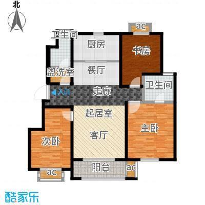 旭辉百合宫馆115.00㎡D3户型 3室2厅1卫户型3室2厅1卫