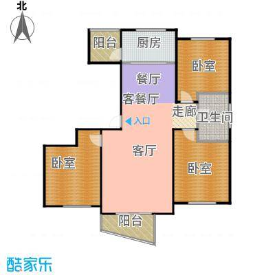 东辰清风港115.00㎡B户型3室2厅1卫