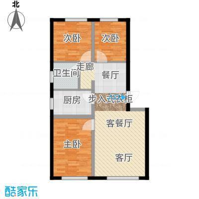 盈胜幸福里3室2厅1卫1厨83.65㎡户型3室2厅1卫