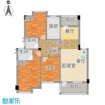 中央美地C2/玫瑰庄园户型3室2卫1厨