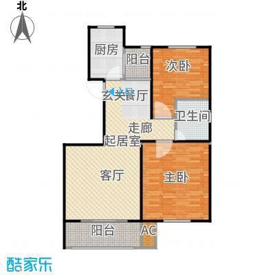 滨河湾88.95㎡A户型2室2厅1卫1厨 88.95㎡户型2室2厅1卫