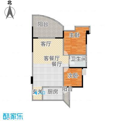锦绣江南二期户型2室1厅1卫1厨