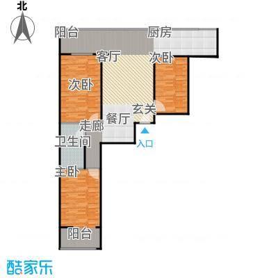 兴业苑建筑面积:129.99m² 三室两厅两卫户型3室2厅2卫