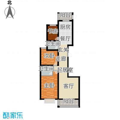卓冠美景城135.78㎡3#楼D户型135.78平米户型3室2厅2卫