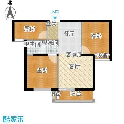 东方城户型2室1厅1卫1厨