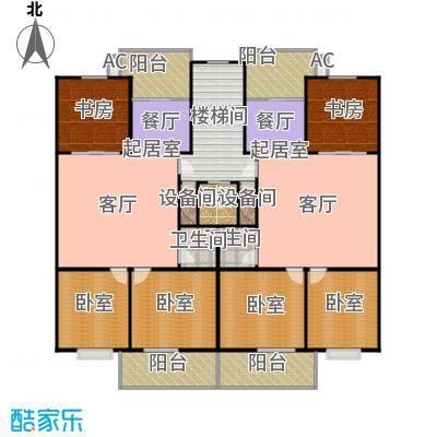 幸福苑三室两厅两卫 126.83平方米户型