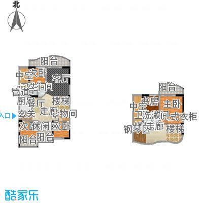 海棠晓月・怡景天域(二期)233.04㎡复式-套内面积约256平方米户型