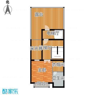 皇马郦宫120.00㎡A四层平面户型1室1卫