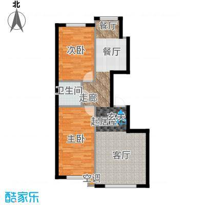 恒泰・望云轩101.00㎡D户型两室两厅一卫约101平米户型2室2厅1卫