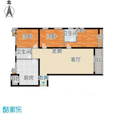 大唐天下江山三室两厅两卫170.3平户型图