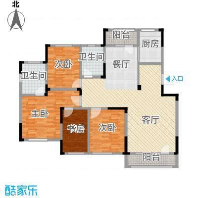 绿地卢浮公馆140.00㎡D户型4室2厅2卫