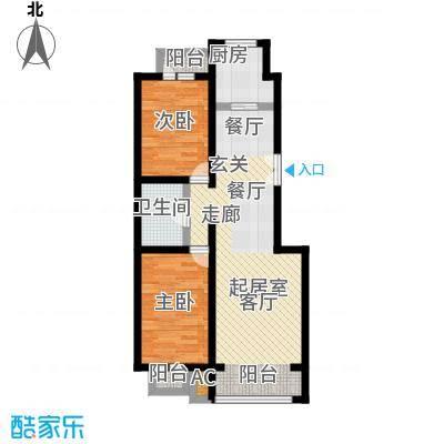 筑石居易筑石格林印象P户型79.54-85.06平米三室两厅一卫户型图户型3室2厅1卫