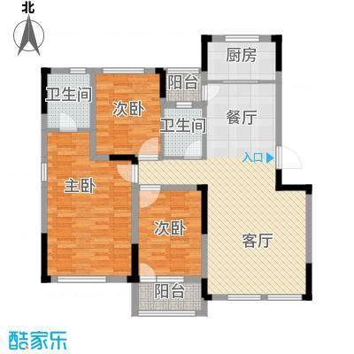 绿地卢浮公馆120.00㎡C户型3室2厅2卫
