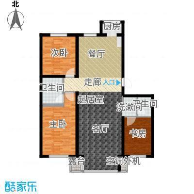 江畔小镇3室2厅1卫1厨137.00㎡户型3室2厅1卫