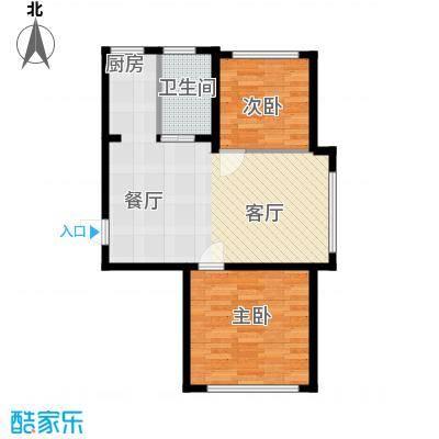 金地卡诗维亚74.33㎡17#D户型 两室一厅一卫 建筑面积约74.33㎡户型2室1厅1卫