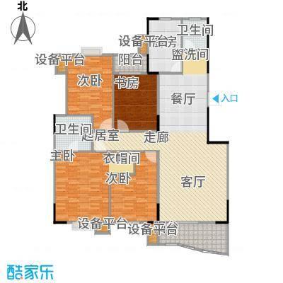华江.乐天花亭152.96㎡四房二厅二卫-152.96平方米户型