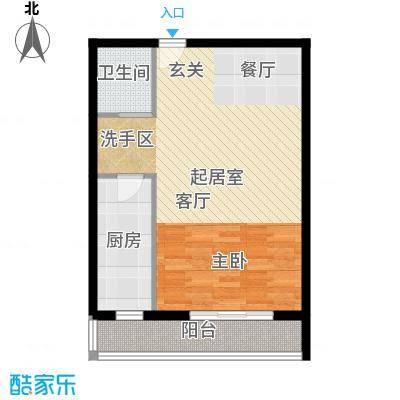 天翔・新新家园(二期)68.89㎡一房一厅一卫-68.89平方米-6套户型